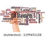 iso standards word cloud and... | Shutterstock . vector #1199651128