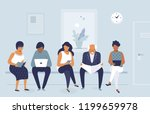 group of people waiting for job ... | Shutterstock .eps vector #1199659978