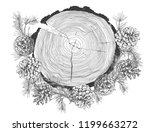 realistic botanical ink sketch... | Shutterstock .eps vector #1199663272