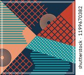 geometric abstract pattern... | Shutterstock .eps vector #1199670382