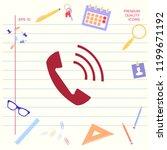 telephone handset  telephone... | Shutterstock .eps vector #1199671192
