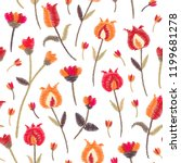 embroidery seamless pattern... | Shutterstock .eps vector #1199681278