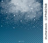falling snow on a transparent... | Shutterstock .eps vector #1199682568