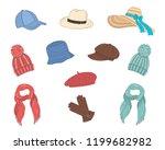 Hats Collection  Vector Sketch...