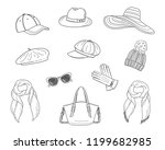 Hats Collection  Vector Sketch...