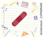 medical  plaster  adhesive... | Shutterstock .eps vector #1199689648
