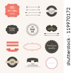 collection of  labels and... | Shutterstock .eps vector #119970172