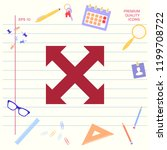 extend  resize  enlarge icon | Shutterstock .eps vector #1199708722