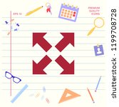 extend  resize icon. cross... | Shutterstock .eps vector #1199708728