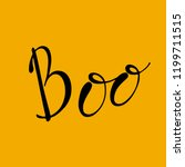 boo.  halloween quotes on...   Shutterstock .eps vector #1199711515