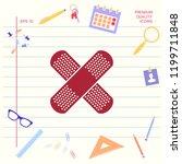 cross adhesive bandage  medical ... | Shutterstock .eps vector #1199711848