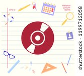 cd  dvd symbol icon   Shutterstock .eps vector #1199712058