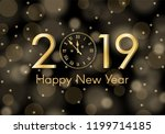abstract gold shining new year... | Shutterstock .eps vector #1199714185