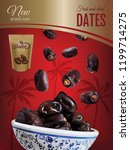 dried dates ads. vector... | Shutterstock .eps vector #1199714275