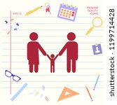 adults with a child   family... | Shutterstock .eps vector #1199714428