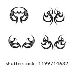 tribal tatto collection set ... | Shutterstock .eps vector #1199714632