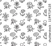 seamless pattern with hand... | Shutterstock .eps vector #1199719135