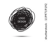 logo design. vector hand drawn... | Shutterstock .eps vector #1199719192