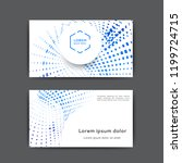 business card design with... | Shutterstock .eps vector #1199724715