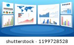 concept of business charts and... | Shutterstock . vector #1199728528