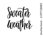 sweater weather vector... | Shutterstock .eps vector #1199728885