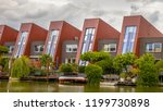 waterfront houses with... | Shutterstock . vector #1199730898