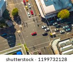 aerial view of city crossroad... | Shutterstock . vector #1199732128