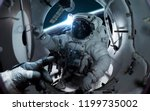 astronaut at the international...   Shutterstock . vector #1199735002
