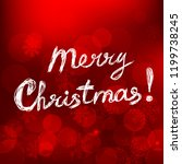 merry christmas card with text... | Shutterstock .eps vector #1199738245