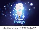 eco energy saving light bulb ... | Shutterstock .eps vector #1199741662