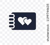 wedding album transparent icon. ... | Shutterstock .eps vector #1199744635