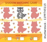 shadow matching game. find the... | Shutterstock .eps vector #1199745115