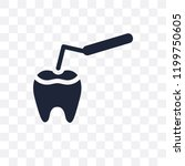 tooth filling transparent icon. ... | Shutterstock .eps vector #1199750605