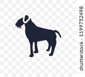 irish terrier dog transparent... | Shutterstock .eps vector #1199752498