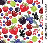 berries seamless pattern.... | Shutterstock .eps vector #1199761855