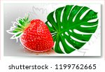 vector strawberry.hand drawing...   Shutterstock .eps vector #1199762665