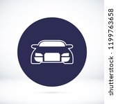 car vector icon  stock vector... | Shutterstock .eps vector #1199763658