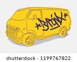 bronx graffiti tagged yellow...   Shutterstock .eps vector #1199767822