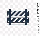 road barrier vector icon... | Shutterstock .eps vector #1199772478