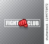fight club vector logo with red ... | Shutterstock .eps vector #1199773972