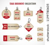 vector stickers  price tag ...   Shutterstock .eps vector #1199780605