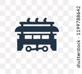 tram vector icon isolated on... | Shutterstock .eps vector #1199788642