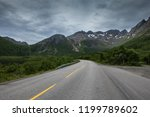 beautiful road leads to north... | Shutterstock . vector #1199789602