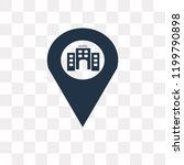 location vector icon isolated... | Shutterstock .eps vector #1199790898