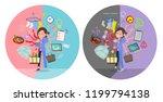 a set of surgical doctor women...   Shutterstock .eps vector #1199794138