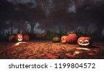 scary jack o lantern halloween... | Shutterstock . vector #1199804572