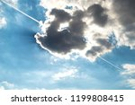 blue sky with cloud and sunshine | Shutterstock . vector #1199808415