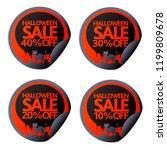halloween stickers 10 20 30 40...   Shutterstock .eps vector #1199809678
