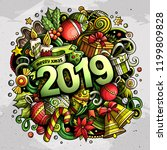 2019 hand drawn doodles... | Shutterstock .eps vector #1199809828