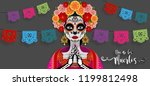 day of the dead  dia de los... | Shutterstock .eps vector #1199812498